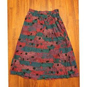 Vintage 80s 90s retro patterned skirt